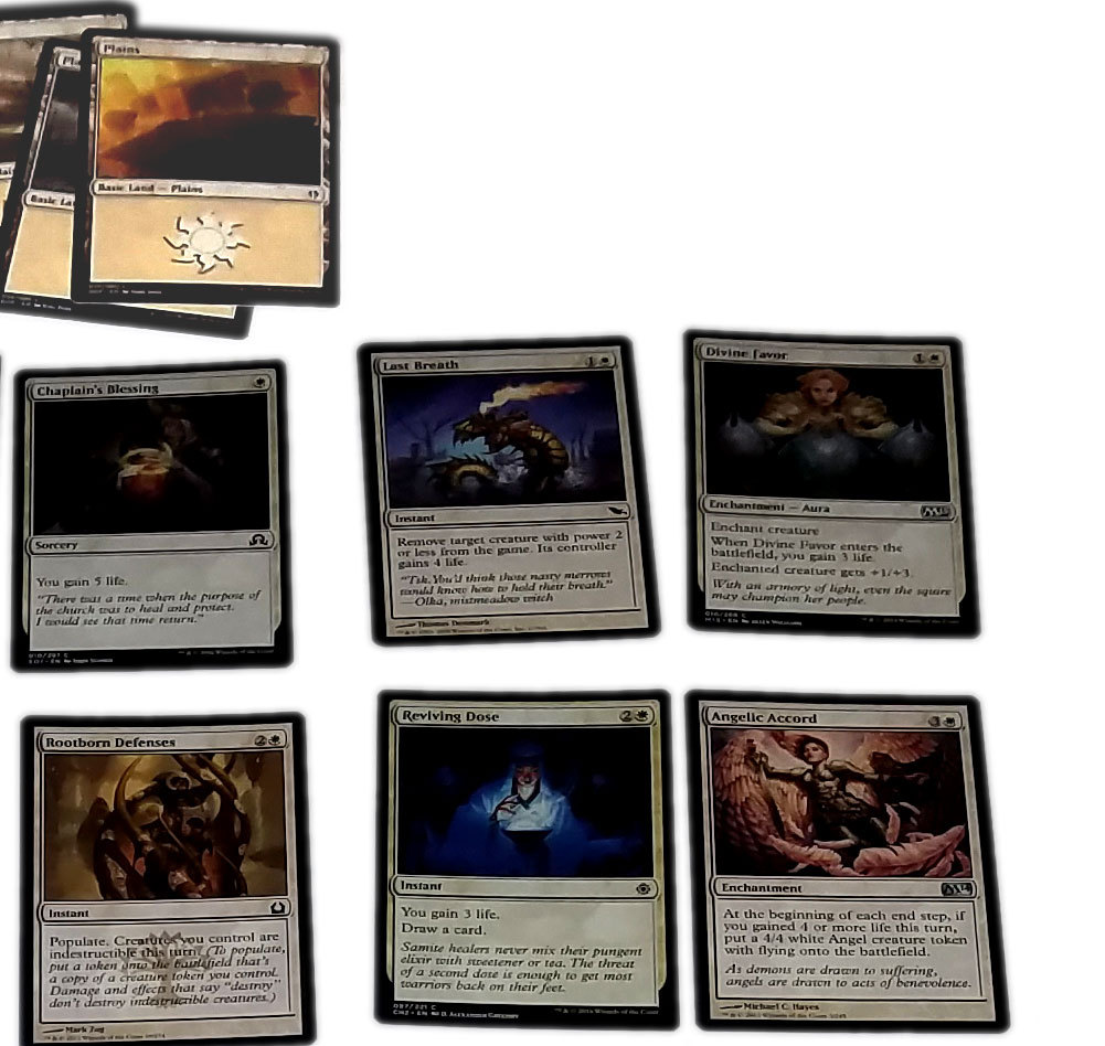 Magic the Gathering MTG All White Angel Creation / Life Gain (60) Card Deck * 02