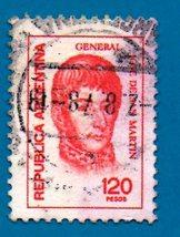 Used Argentina Postage Stamp (1978) 120p Jose San Martin - Scott #1106    - $1.99