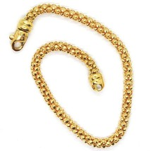 18K YELLOW GOLD BRACELET, 18.5 CM, 7.3 INCHES, BASKET WEAVE TUBE, 4 MM THICKNESS image 2