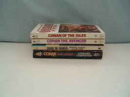 Vintage Conan fantasy adventure 4 PB book lot Conan the hero, the avenger - $11.83