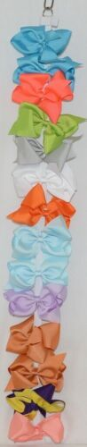 Unbranded Wholesale Lot 14 Large Bows Assorted Colors Bow Hanger Included