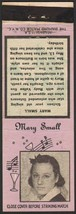 Vintage match book cover MARY SMALL Diamond Match Nite Life series with bio - $8.99