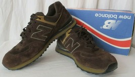 New Balance Men 10 M574BS Encap Sneakers Shoes Chocolate Brown image 2