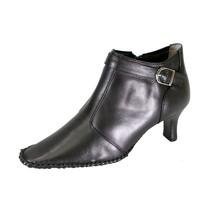 PEERAGE Willow Women Wide Width Side Zipper Leather Dress Booties - $39.95