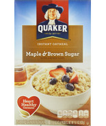 Quaker Instant Oatmeal Maple Brown Sugar 1.51 oz., 1 Package, 10-Count Box - $4.94