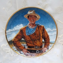 RARE FRANKLIN MINT JOHN WAYNE COWBOY THE DUKE PLATE - $22.99