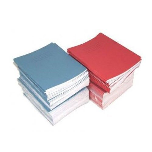 10 x School Exercise Books 15mm Lines A5 32 Page 165 x 203mm Red Cover