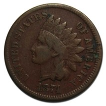 1874 One Cent Indian Head Penny Coin Lot# A 2185
