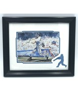 "Baseball Framed Artwork Lobenberg Fair Play Watercolor 12"" x 10"" Sports - $18.99"