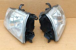 03-06 Mitsubishi Montero Limited Headlight Head Light Lamps Set L&R - POLISHED image 6