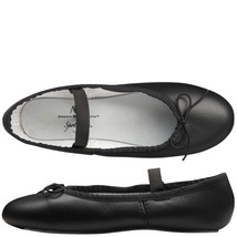 Spotlights Ballet Shoes ABT Womens Choose Size Black Leather Full Sole Dance NIB - $18.95