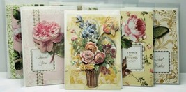 Handmade Greeting Cards lot of 7 Beautiful Die Cut Flowers Ribbon Butter... - $37.50