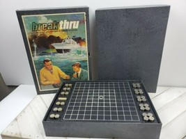 Vintage Board Game BREAK THRU Mid-Century Bookshelf Strategy Game 1965 C... - $14.85