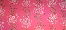 Vintage 1960's Gift Wrapping Paper Flowers Pink with White and Gold Flo... - $9.99