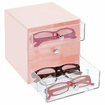 mDesign Stackable Plastic Eye Glass Storage Organizer Box Holder for Sun... - $16.73