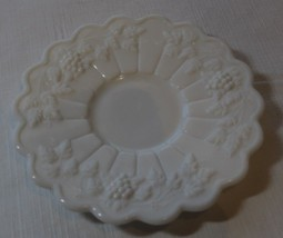 "Milk Glass Paneled Grape Pattern Saucer only Westmoreland Vintage 5 3/4""... - $17.81"