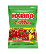 HARIBO HAPPY CHERRIES GUMMI CANDIES - 8oz. - PACK OF 5 - $20.05