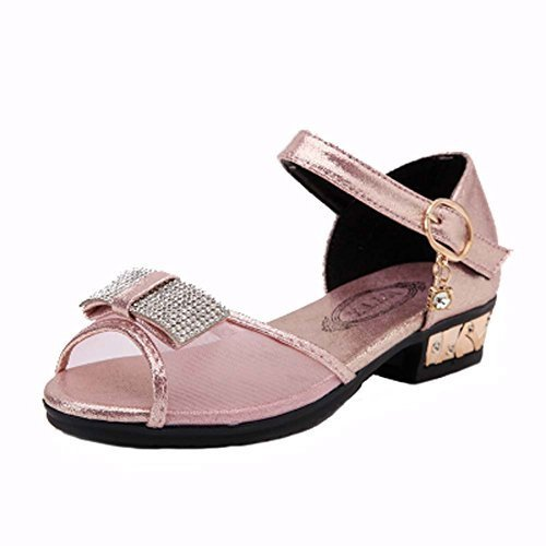 Female Shoes Bow Mesh Sandals Toe Rhinestone Little Princess Shoes