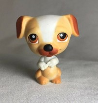 Littlest Pet Shop #40 Jack Russell Puppy Dog Yellow Brown White Brown Ey... - $5.87