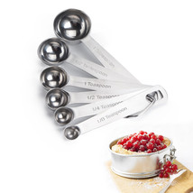6PCS/Set Stainless Steel Measuring Cup Measuring Spoon - $19.95