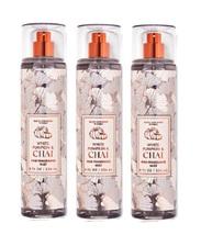 Bath & Body Works White Pumpkin & Chai Fine Fragrance Mist 8 oz x3 - $31.50