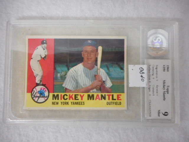 1960 Topps #350 Mickey Mantle Grade 9