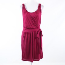 Maroon red ANN TAYLOR LOFT stretch sleeveless wrap dress 6P NWT $69.50 - $14.99