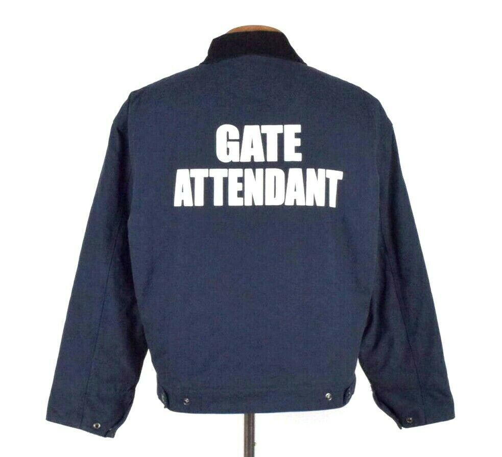 Primary image for Gate Attendant Blue Work Bomber Jacket Port Authority Event Security Mens Size L