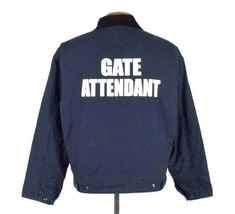Gate Attendant Blue Work Bomber Jacket Port Authority Event Security Men... - $19.79