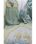 vintade Precious Moments crib bedding  Comforter ,bed skirt and diaper b... - $77.93