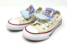 Converse All Star Perforated Star Double Tongue Lace Up Youth Shoes Low Top - $23.36