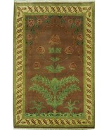 Floral Botani Garden New Wool Jaipur Handmade Rug 5 x 8 Brown Rug - $456.28