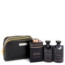 Bvlgari Man In Black 3.4 Oz Eau De Parfum Spray Gift Set - $120.97