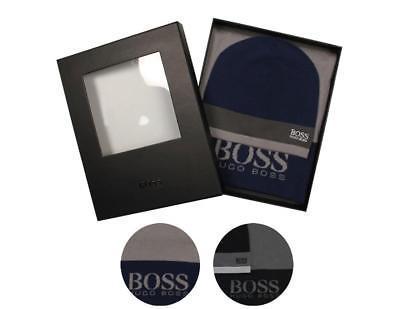 Hugo Boss Premium Scarf and Beanie Knitted Fabric Gift Box Set 50376789