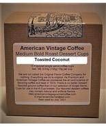 Decaf. Toasted Coconut flavored Dessert Coffee 10 Medium Bold Roasted K-... - $10.41