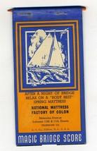 Magic Bridge Score Pad Advertising National Mattress Factory - $49.63