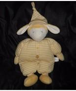 1999 Nordamerikanischen Bär Co Sleepy Kopf Baby Lamm Gelb Plüschtier Plüsch - $43.17