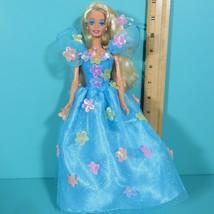 Barbie Songbird Doll Blue Dress Flowers Blonde Hair 14320 Vintage Mattel 1995 - $17.95