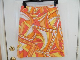Talbots Stretch Skirt MULTI-COLOR Side Zip Deal Size 6 Women's Nwot - $21.12