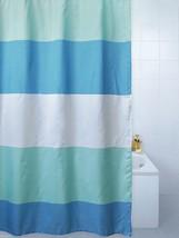 Horizon Grassetto Righe Tenda Doccia in Poliestere 180 x 180cm -blu ,Cre... - $23.67