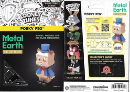 Looney Tunes Porky Pig Metal Earth Legends 3-D Laser Cut Steel Model Kit... - $11.60