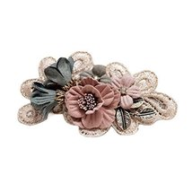 Handmade Hair Barrettes French Barrette Style Bowknot Flower Cloth Hair Bow