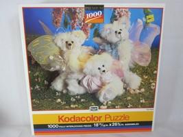 RoseArt Kodacolor 1000 Piece Jigsaw Puzzle Fairy Bears 1991 SEALED - $18.80