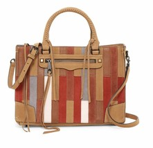 Rebecca Minkoff Women's Patchwork Regan Tote Leather and Suede Purse Bag New - $280.50
