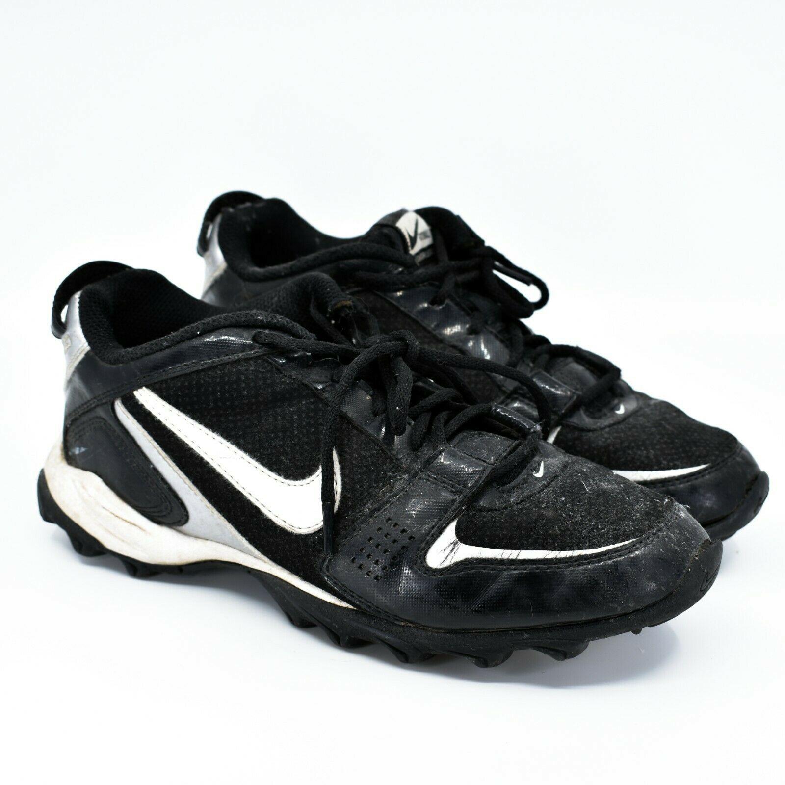 Nike Land Shark Legacy Boy's Youth Kids Black & White Football Cleats Size 6Y