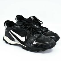 Nike Land Shark Legacy Boy's Youth Kids Black & White Football Cleats Size 6Y image 1