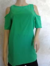 Drop Shoulder Green Blouse Size M (#2939) - $7.99