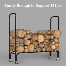 Finether Firewood Rack Log Rack 4ft Indoor/Outdoor Firewood Firewood sto... - $64.59