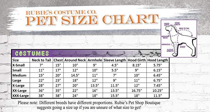 Rubie's Pet Costume, Large or Extra-Large, Purple Witch Dress and Hat