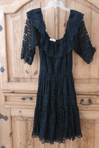 Hand Made by Smily Womens Vintage Off Shoulder Lace Full Circle Dress L XL - $33.44